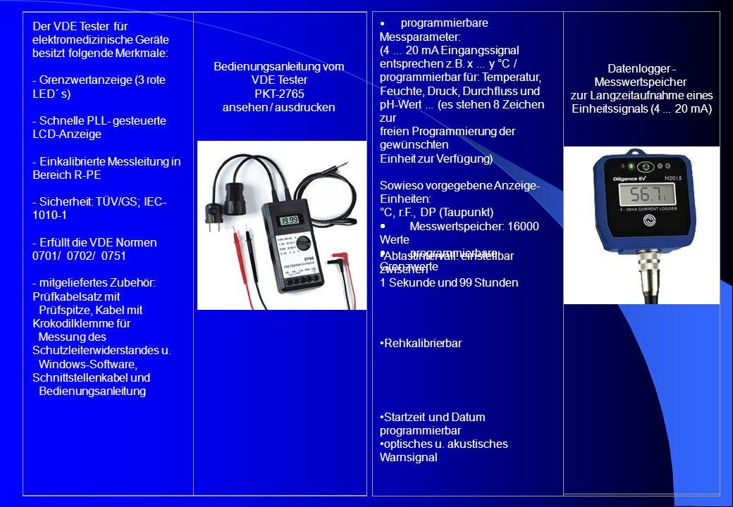 Bedienungsanleitung vom VDE Tester PKT-2765 ansehen / ausdrucken