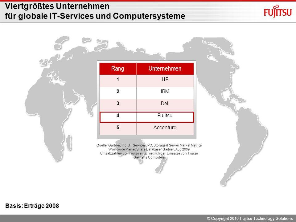 Viertgrößtes Unternehmen für globale IT-Services und Computersysteme