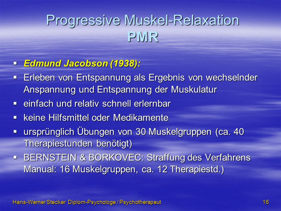 Progressive Muskel-Relaxation PMR