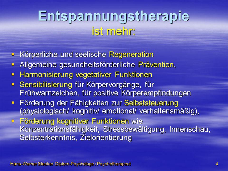 Entspannungstherapie ist mehr: