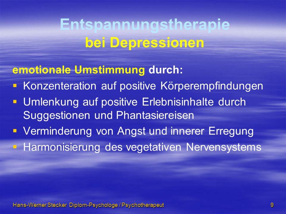 Entspannungstherapie bei Depressionen