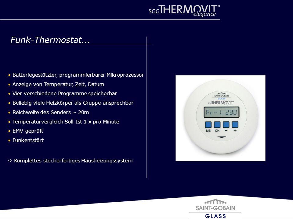 Funk-Thermostat... Batteriegestützter, programmierbarer Mikroprozessor
