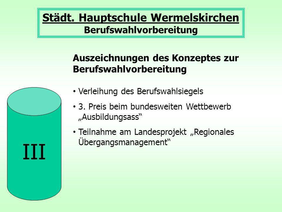 Städt. Hauptschule Wermelskirchen Berufswahlvorbereitung