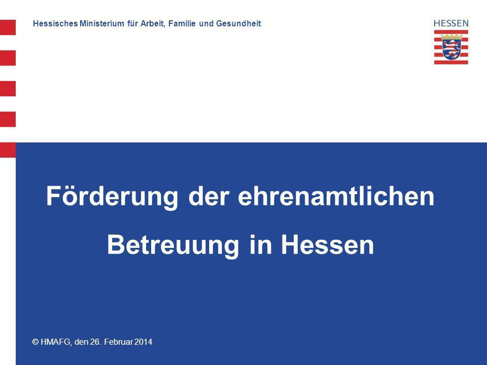 Förderung der ehrenamtlichen Betreuung in Hessen