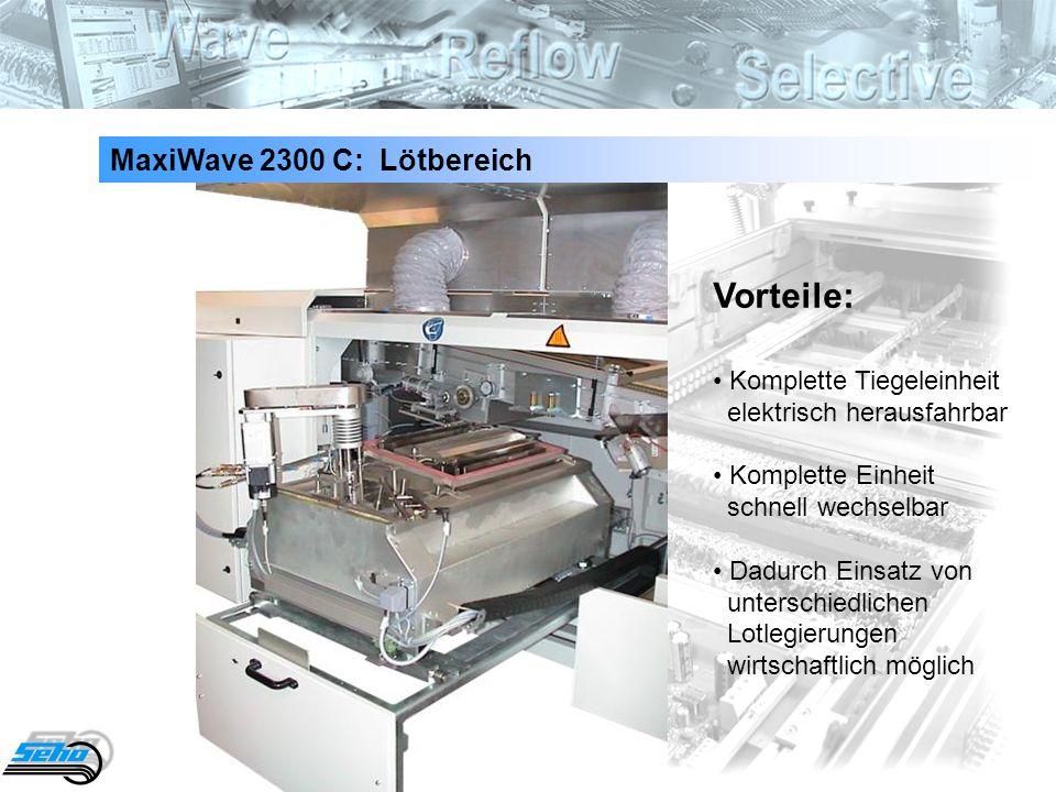 Vorteile: MaxiWave 2300 C: Lötbereich