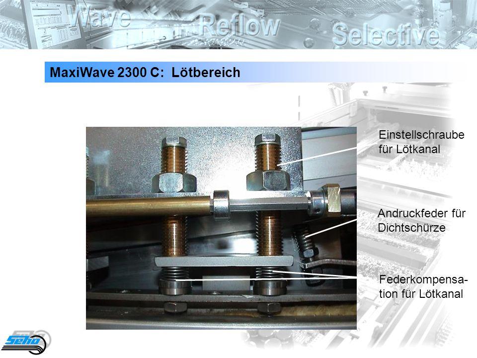 MaxiWave 2300 C: Lötbereich