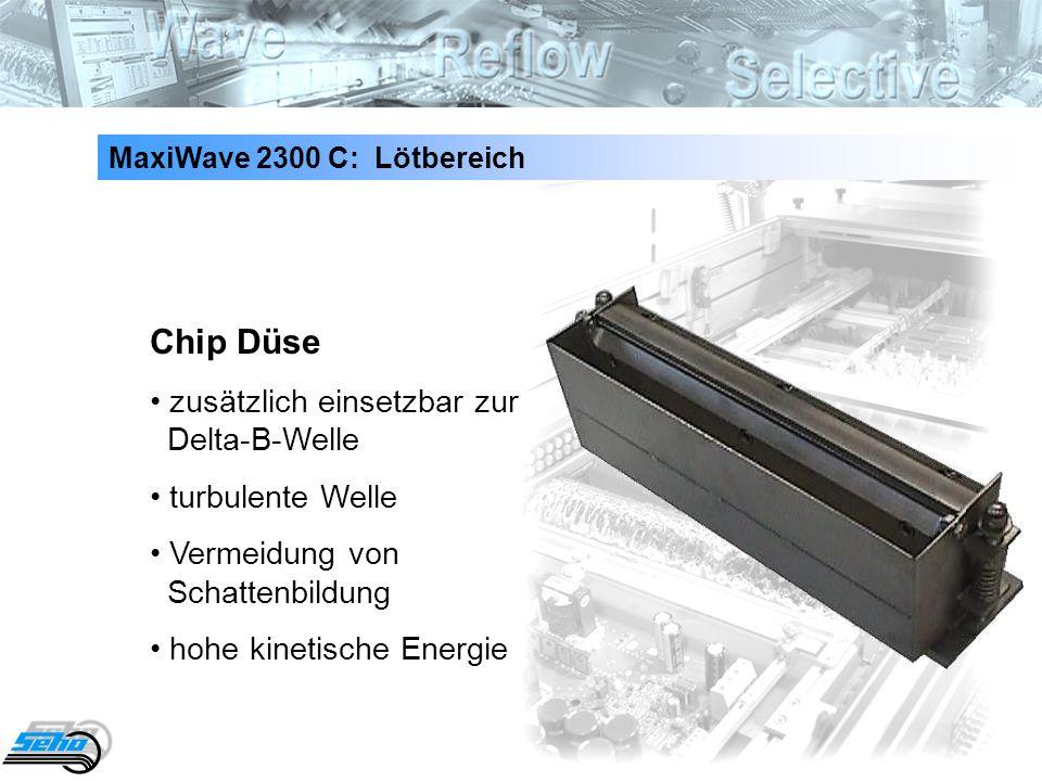 Chip Düse • zusätzlich einsetzbar zur Delta-B-Welle • turbulente Welle
