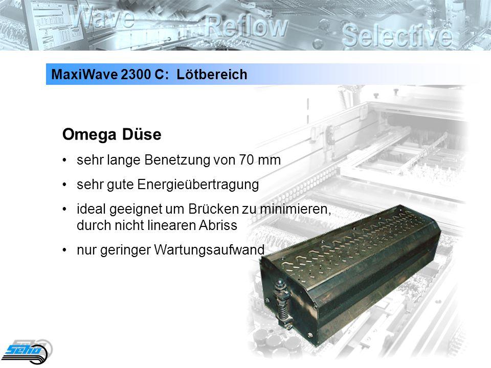 Omega Düse MaxiWave 2300 C: Lötbereich