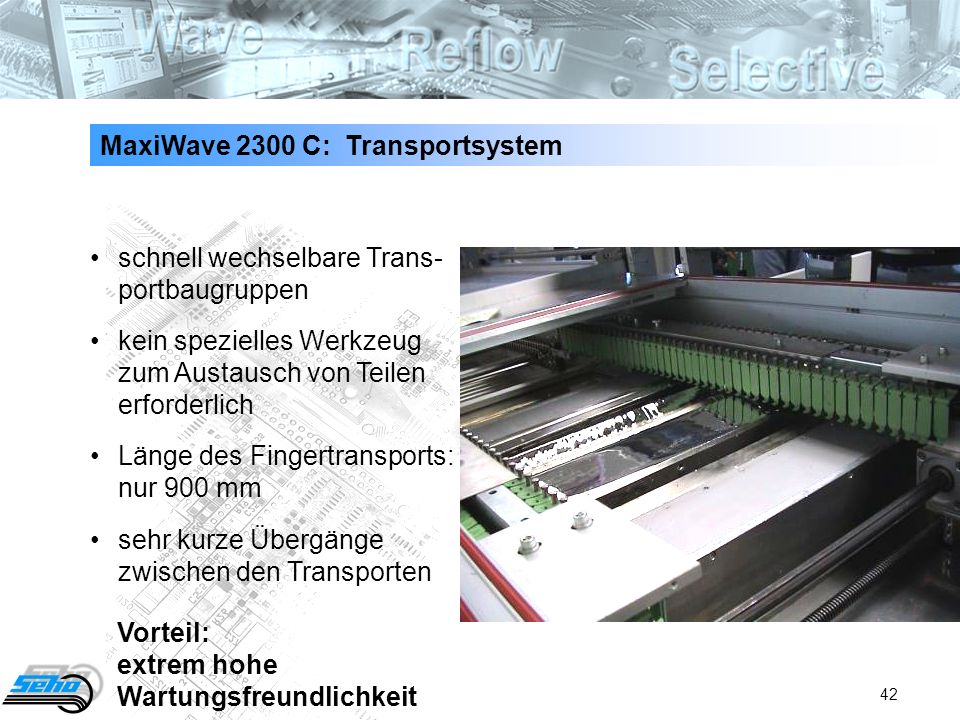 MaxiWave 2300 C: Transportsystem