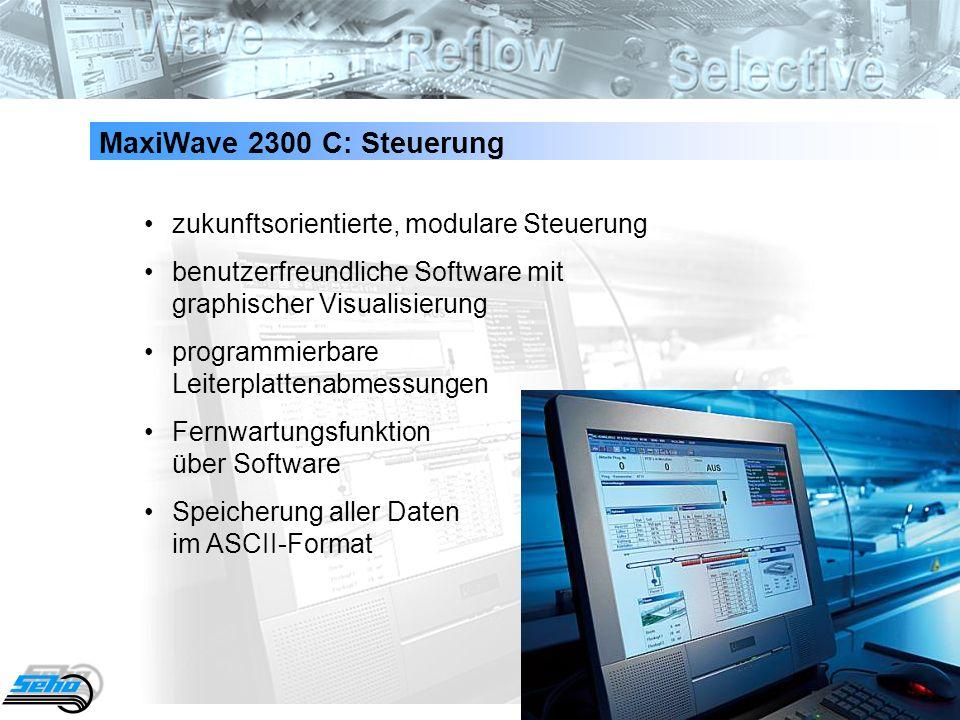 MaxiWave 2300 C: Steuerung • zukunftsorientierte, modulare Steuerung