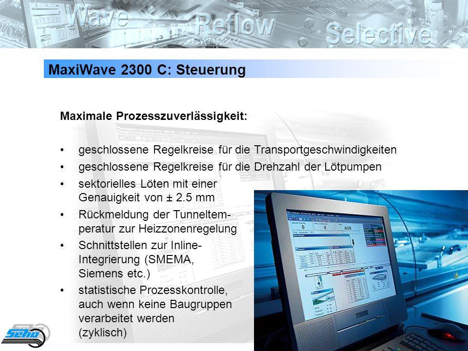 MaxiWave 2300 C: Steuerung Maximale Prozesszuverlässigkeit: