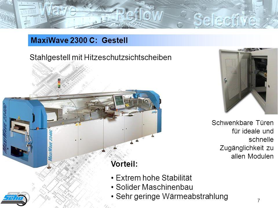 Stahlgestell mit Hitzeschutzsichtscheiben