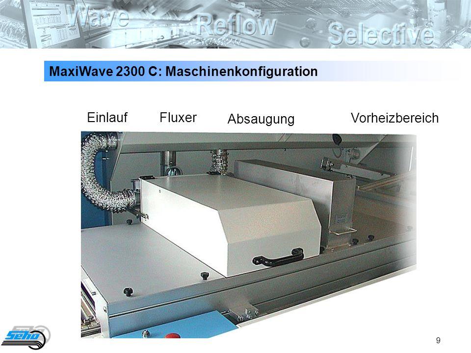 MaxiWave 2300 C: Maschinenkonfiguration
