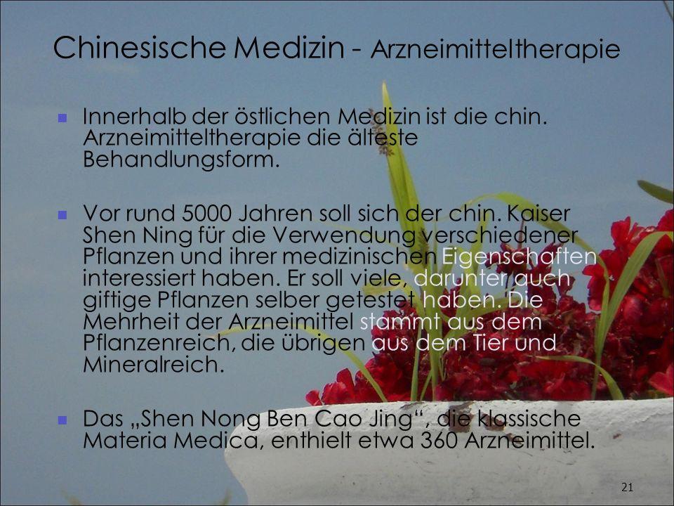 Chinesische Medizin - Arzneimitteltherapie