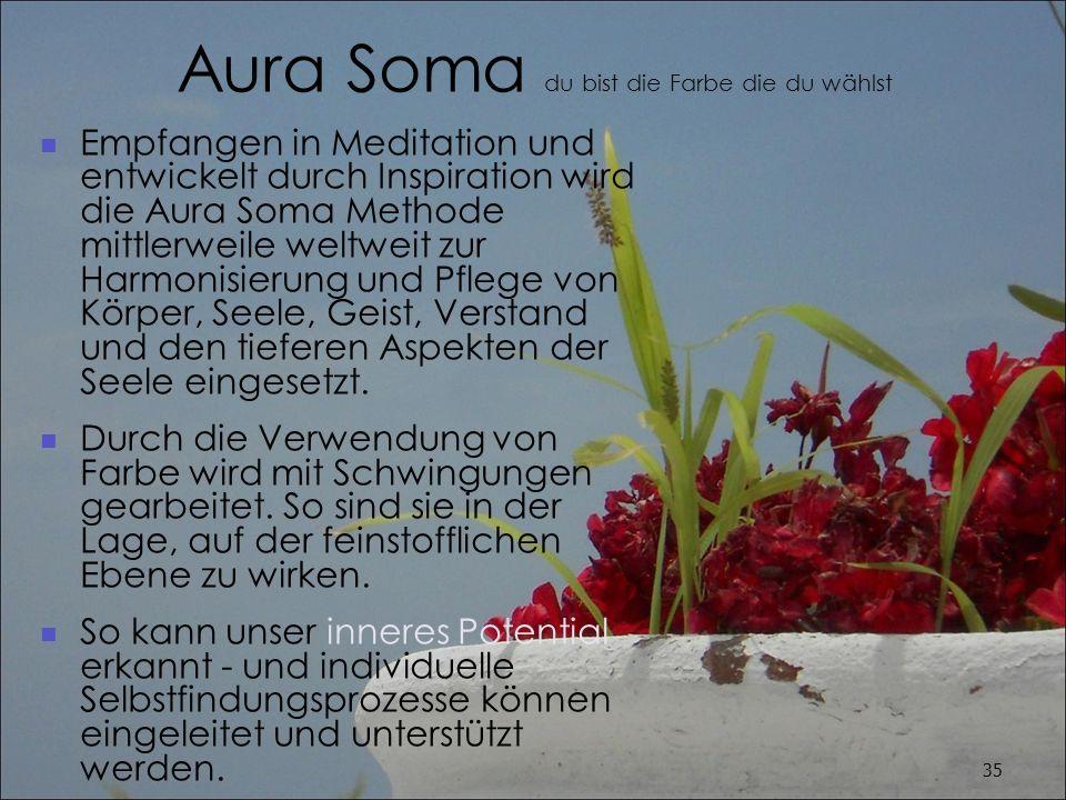 Aura Soma du bist die Farbe die du wählst