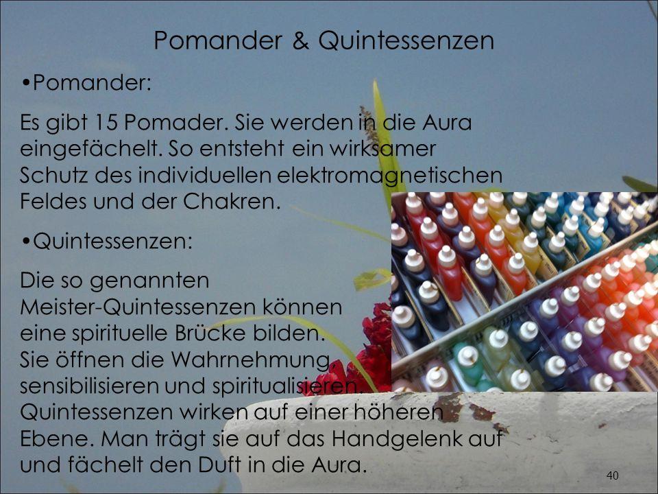 Pomander & Quintessenzen