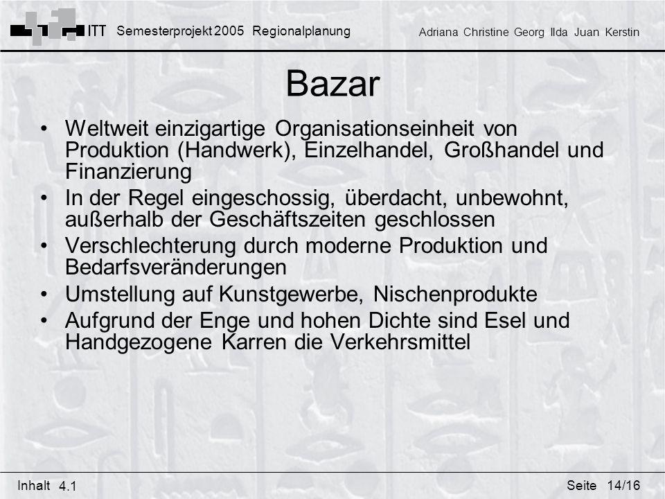 Bazar Weltweit einzigartige Organisationseinheit von Produktion (Handwerk), Einzelhandel, Großhandel und Finanzierung.
