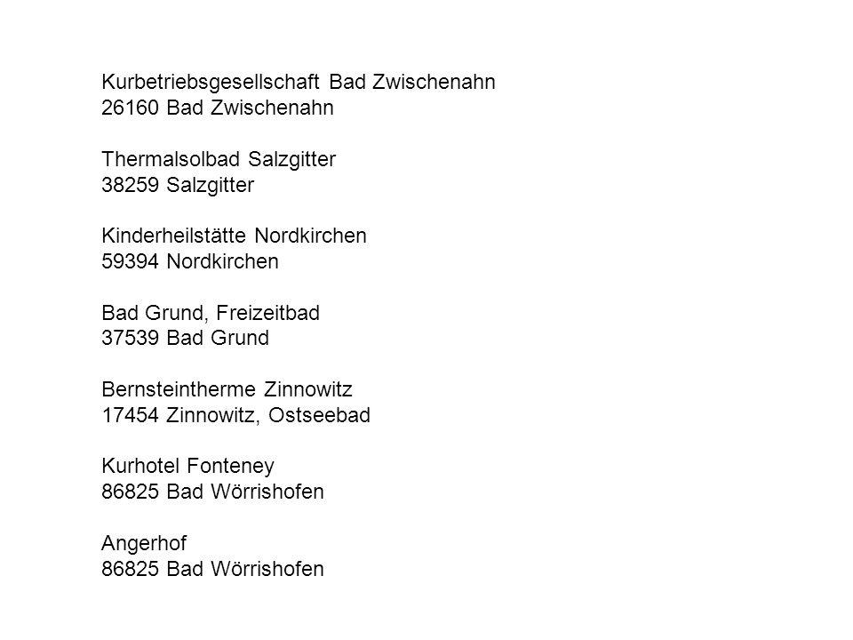 Kurbetriebsgesellschaft Bad Zwischenahn
