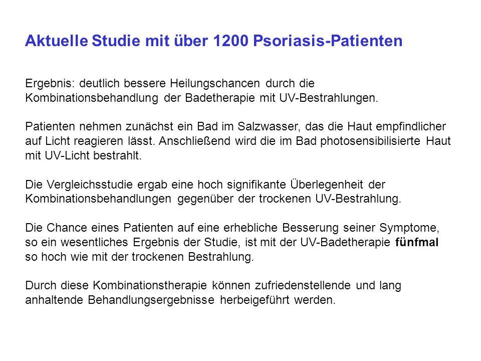 Aktuelle Studie mit über 1200 Psoriasis-Patienten