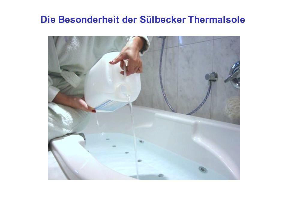 Die Besonderheit der Sülbecker Thermalsole