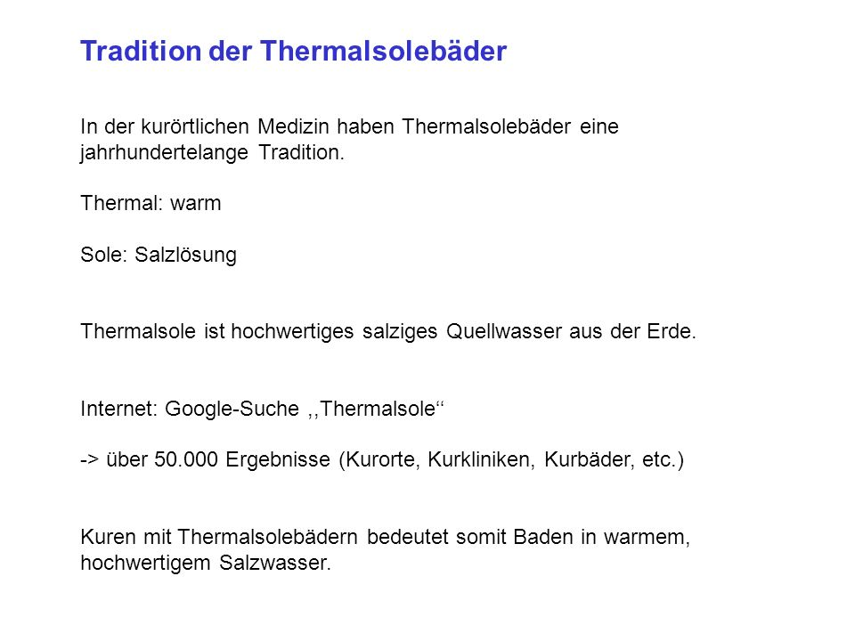 Tradition der Thermalsolebäder