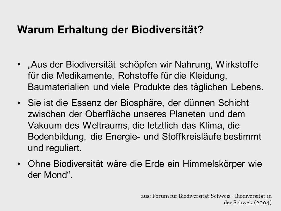 Warum Erhaltung der Biodiversität