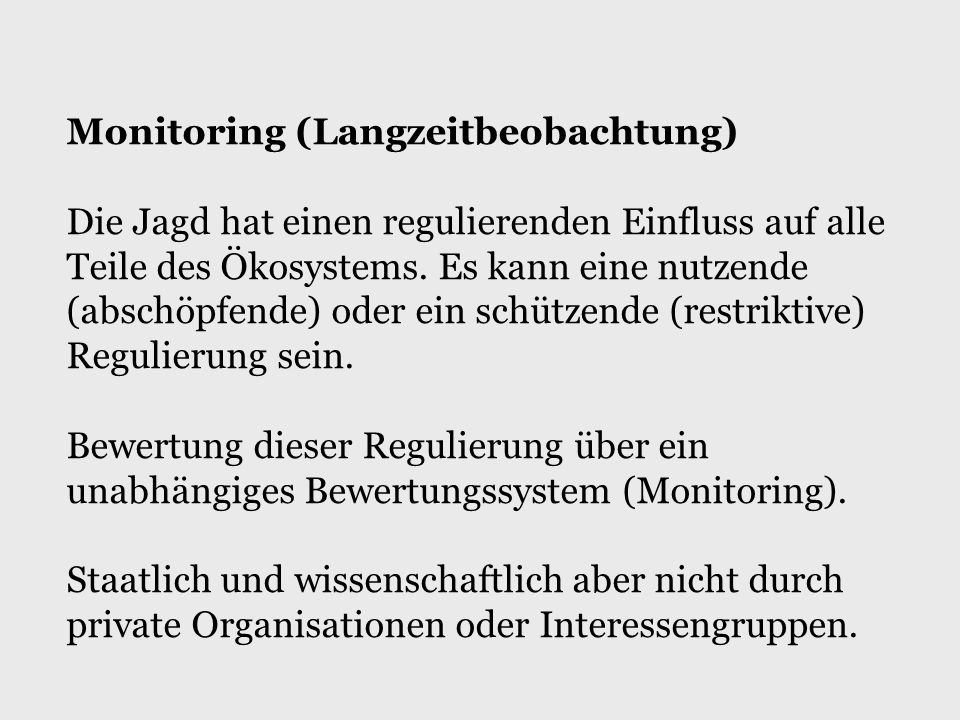 Monitoring (Langzeitbeobachtung)