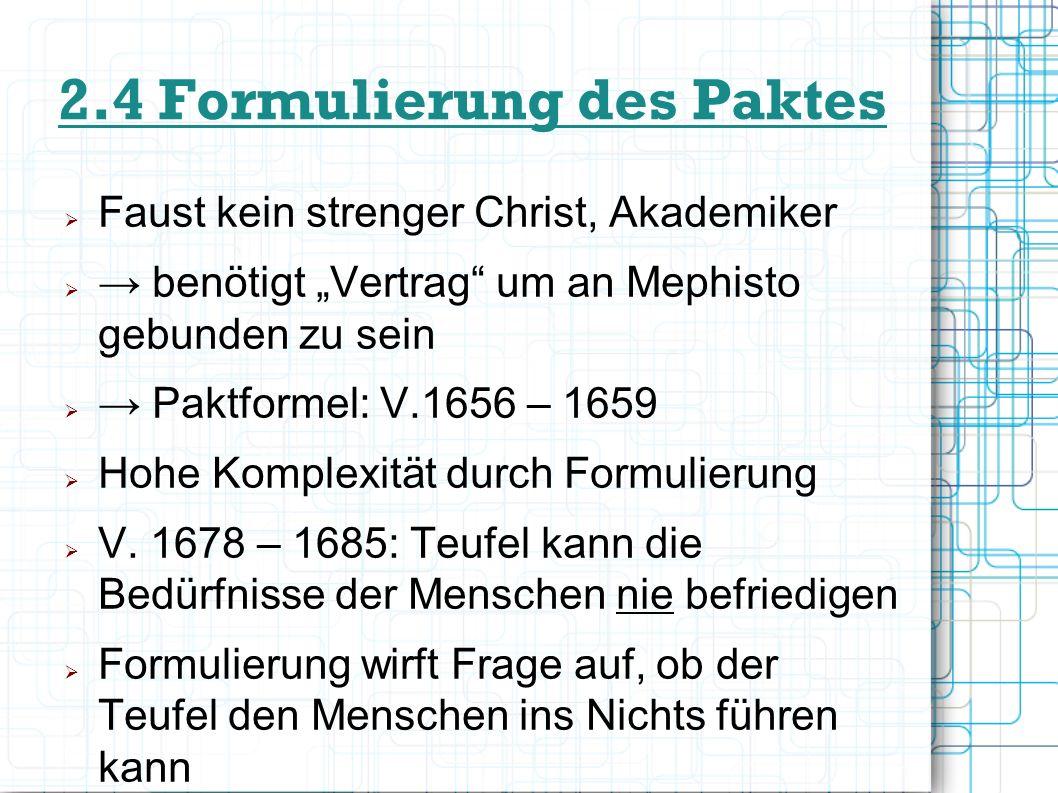 2.4 Formulierung des Paktes