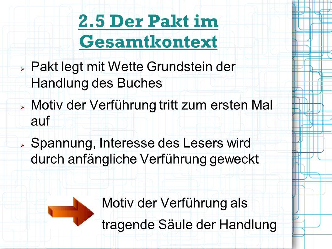 2.5 Der Pakt im Gesamtkontext