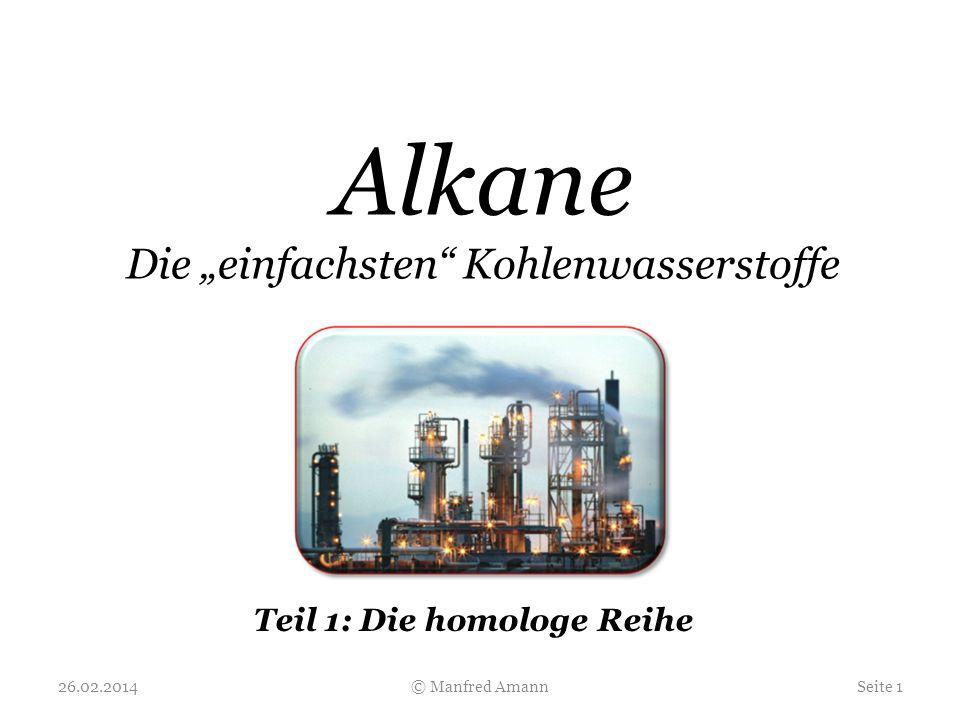 """Alkane Die """"einfachsten Kohlenwasserstoffe"""