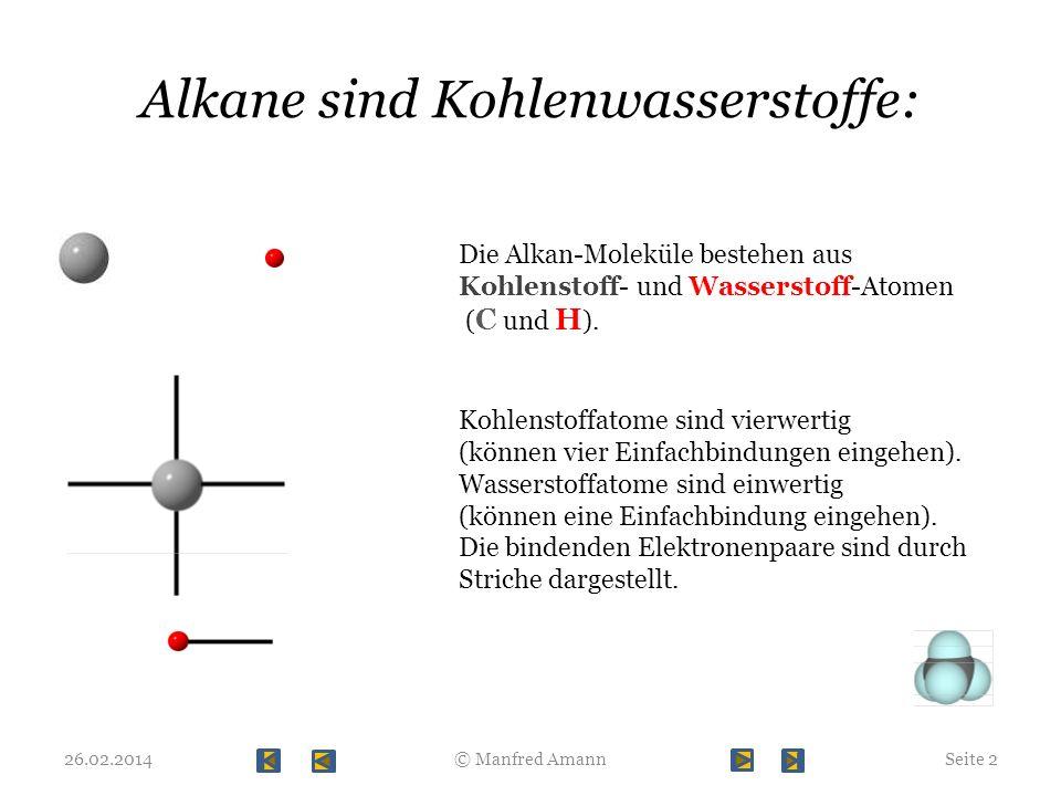 Alkane sind Kohlenwasserstoffe: