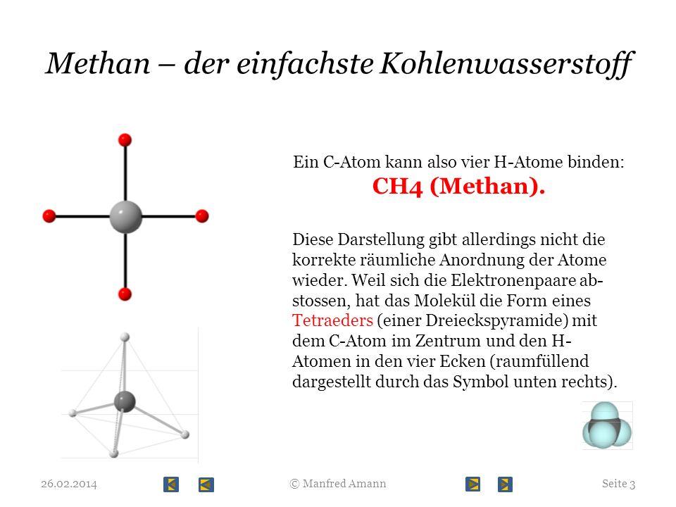 Methan – der einfachste Kohlenwasserstoff