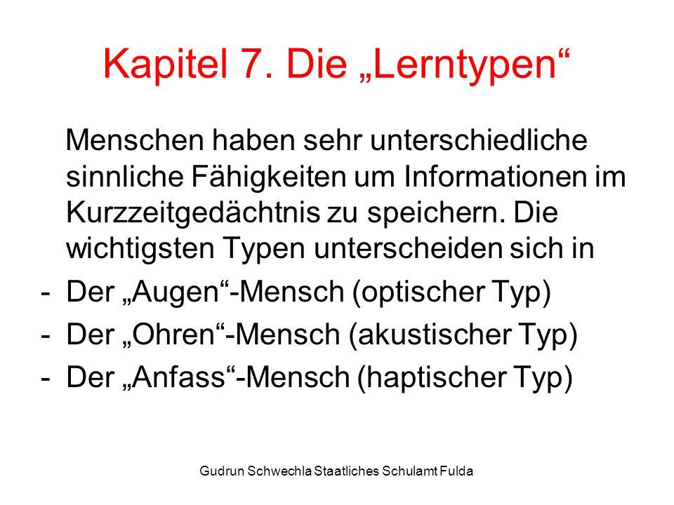 """Kapitel 7. Die """"Lerntypen"""