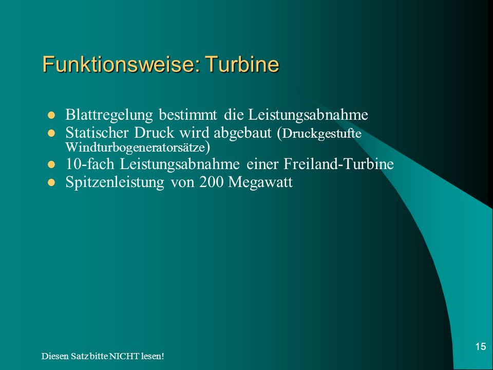 Funktionsweise: Turbine
