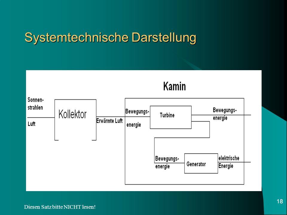 Systemtechnische Darstellung