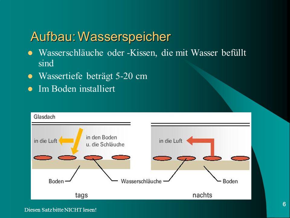 Aufbau: Wasserspeicher