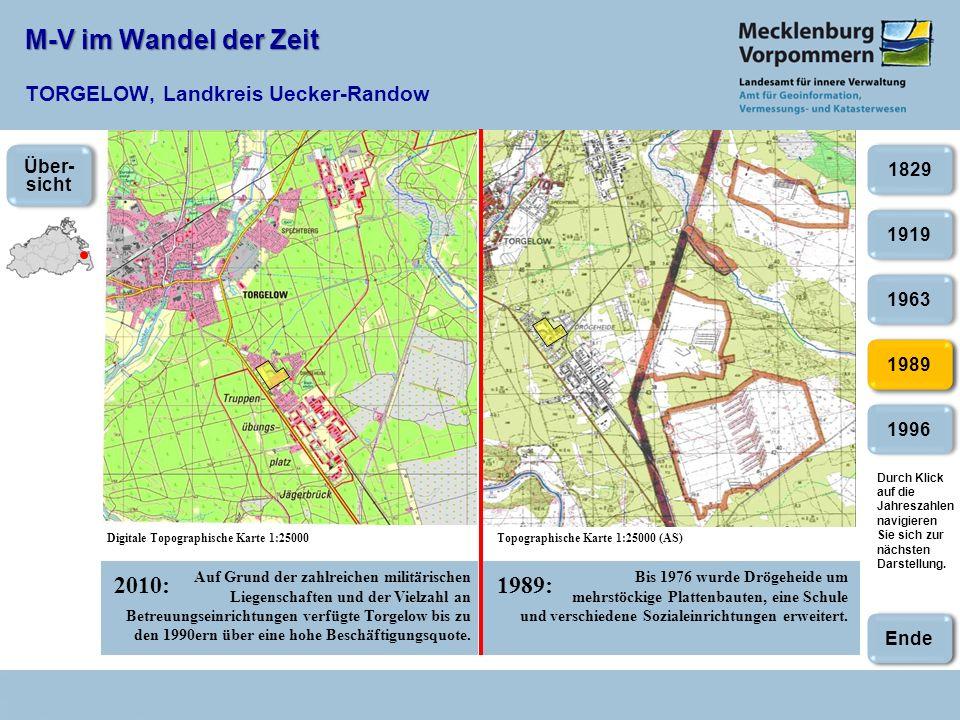 M-V im Wandel der Zeit TORGELOW, Landkreis Uecker-Randow