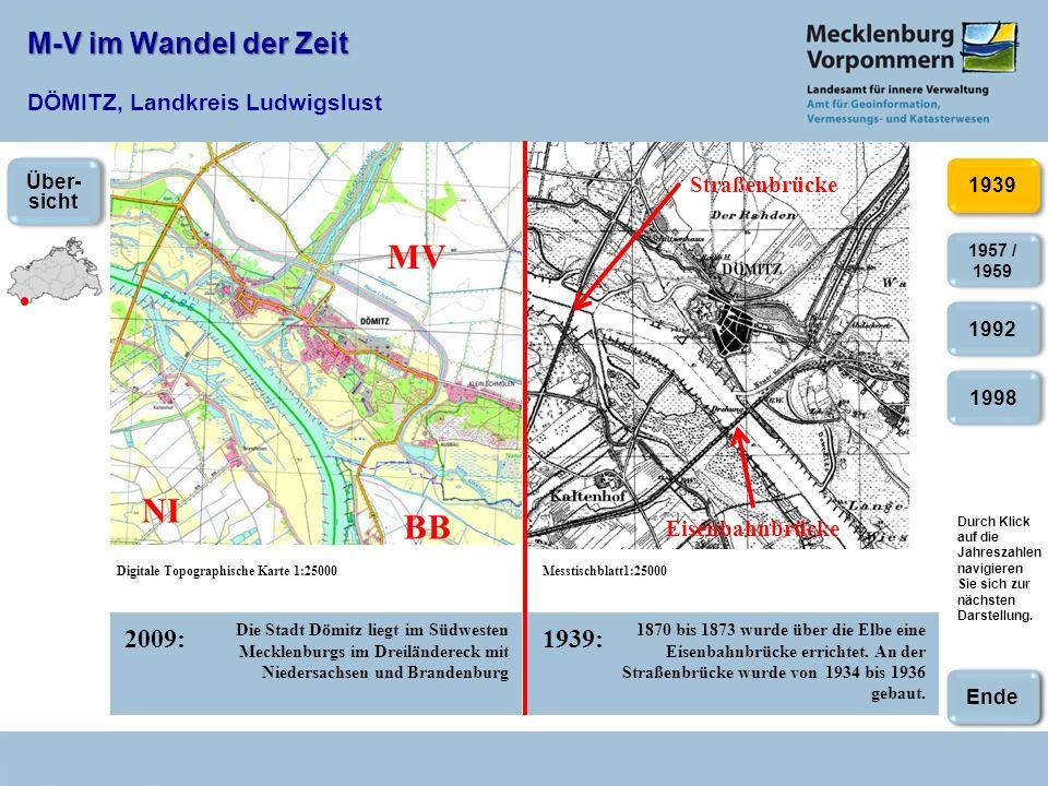 M-V im Wandel der Zeit DÖMITZ, Landkreis Ludwigslust