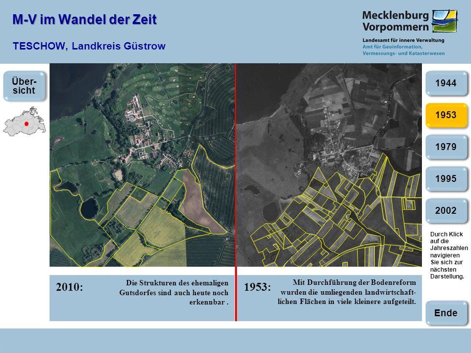 M-V im Wandel der Zeit TESCHOW, Landkreis Güstrow