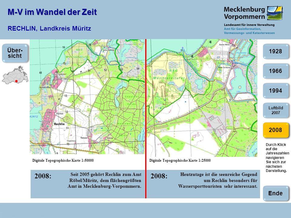 M-V im Wandel der Zeit RECHLIN, Landkreis Müritz