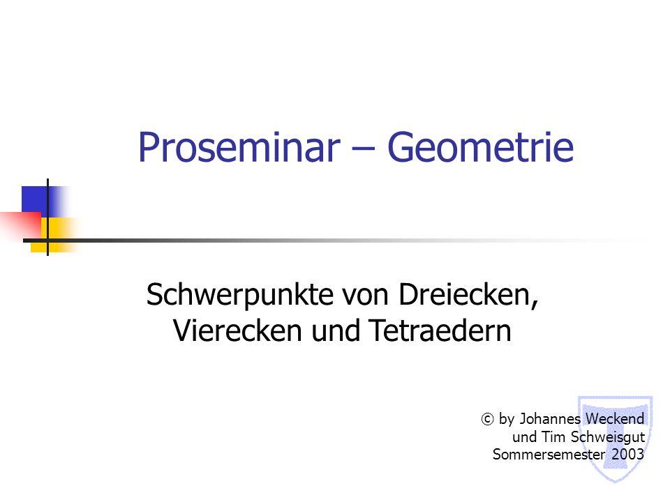 Proseminar – Geometrie