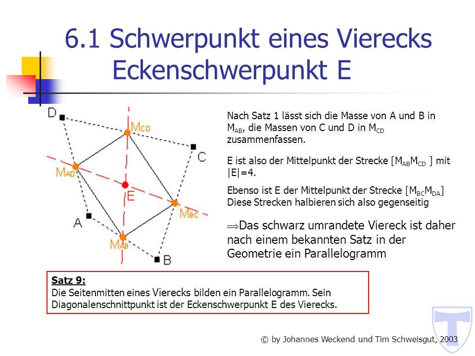 6.1 Schwerpunkt eines Vierecks Eckenschwerpunkt E