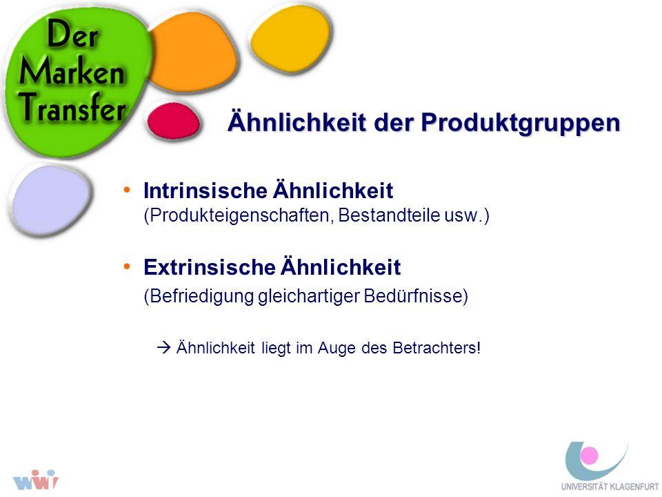 Ähnlichkeit der Produktgruppen