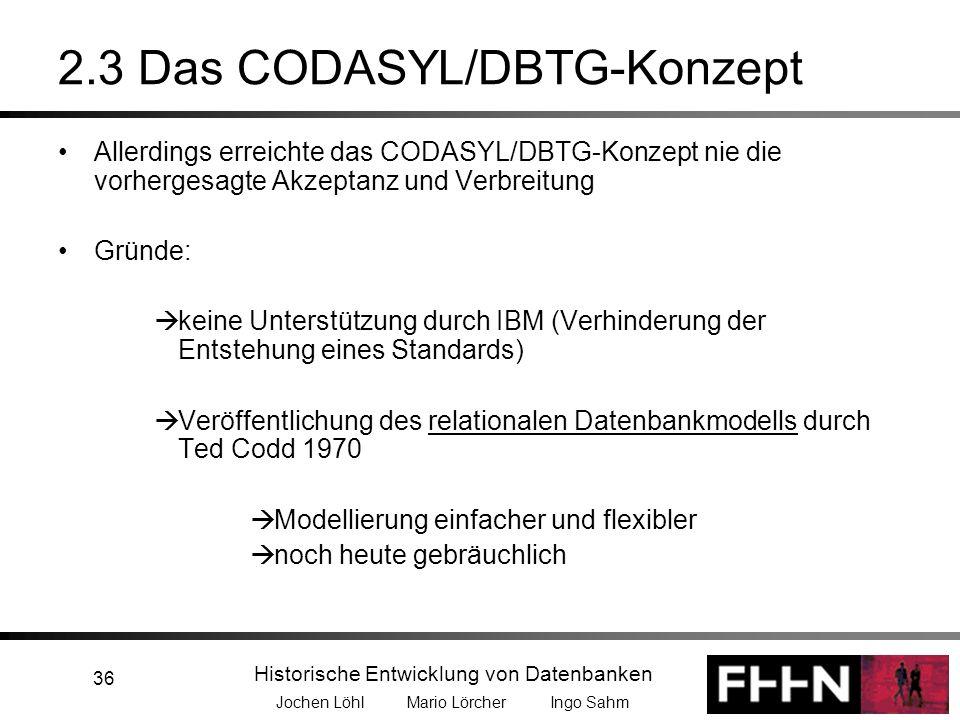 2.3 Das CODASYL/DBTG-Konzept