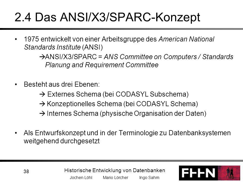2.4 Das ANSI/X3/SPARC-Konzept