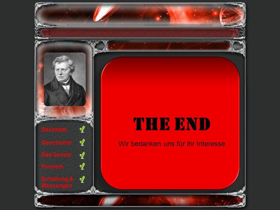 The End Wir bedanken uns für ihr Interesse Deckblatt Geschichte