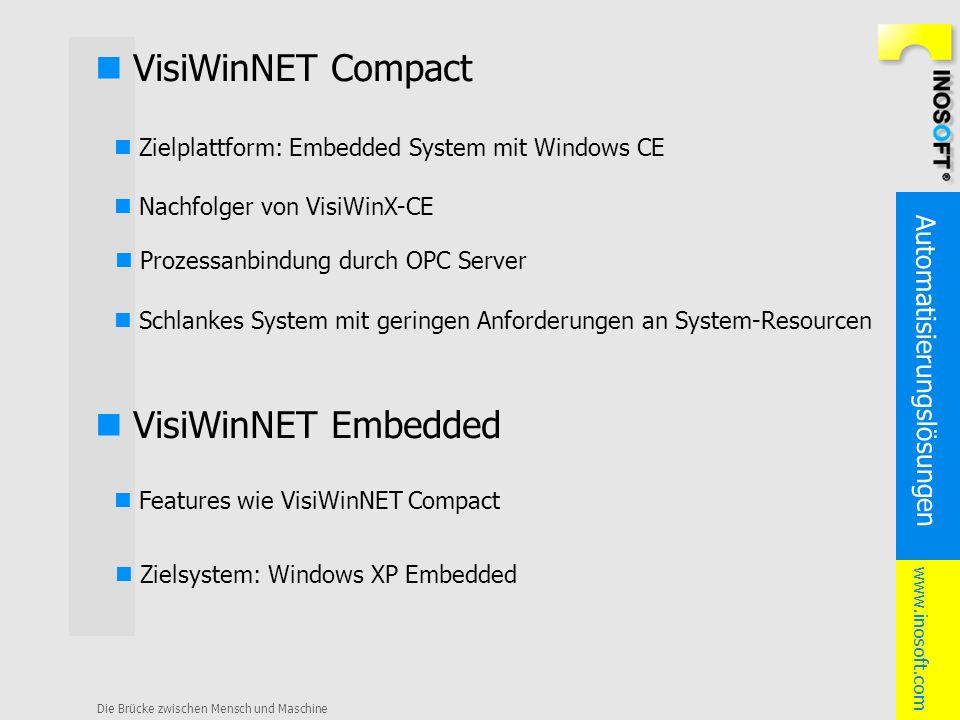 n VisiWinNET Compact n VisiWinNET Embedded