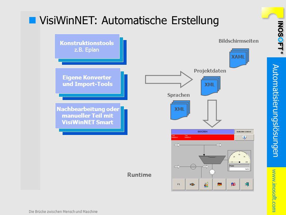 n VisiWinNET: Automatische Erstellung