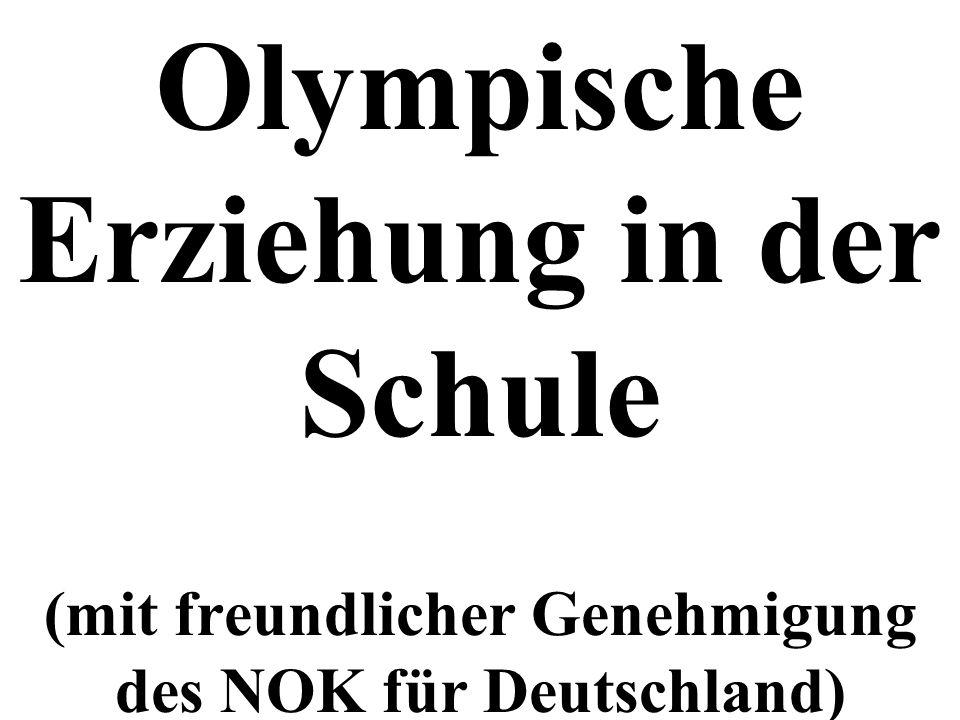 Olympische Erziehung in der Schule