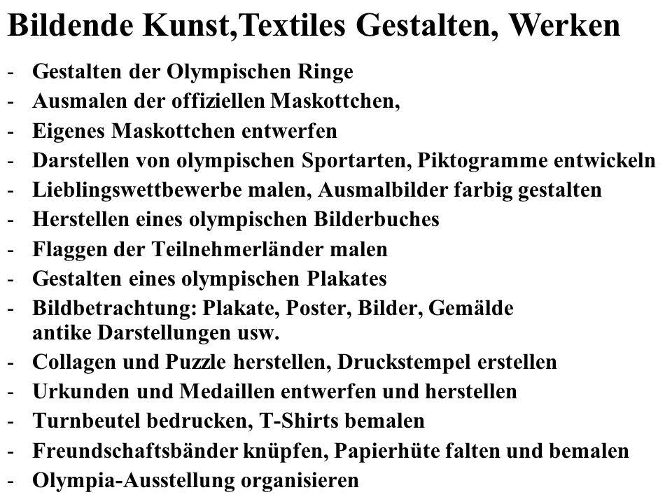 Bildende Kunst,Textiles Gestalten, Werken